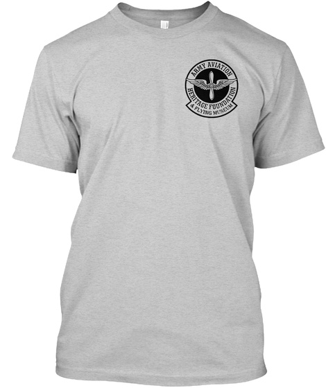 Army Aviation Heritage Foundation & Flying Museum Light Steel T-Shirt Front