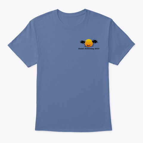 Isle Of Palms, Social Distancing Denim Blue T-Shirt Front