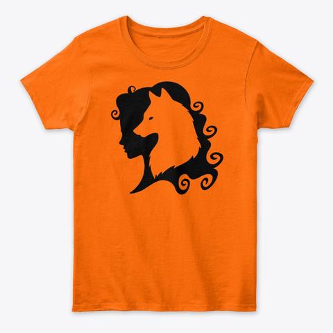 Cheeky Witch® Wolf Spirit Orange T-Shirt Front