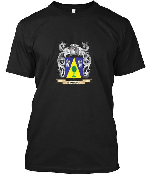 Boesma Family Crest   Boesma Coat Of Arm Black T-Shirt Front