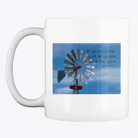 Windmill Spirit Verse White T-Shirt Front