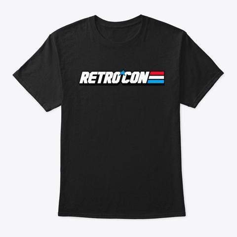 Retro Con Gi Joe T Shirt Black T-Shirt Front
