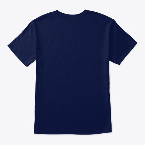 Blue With White Logo Navy T-Shirt Back