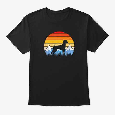 Vintage German Shorthaired Pointer Dog Black T-Shirt Front