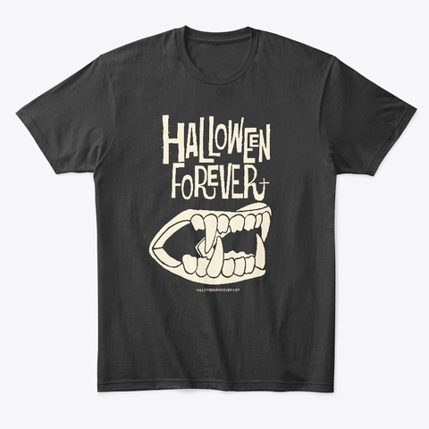 Halloween Forever Fangs Black T-Shirt Front