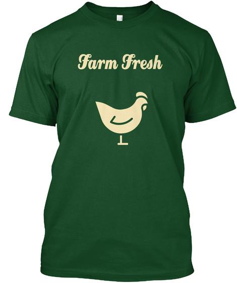 Farm Fresh Deep Forest T-Shirt Front
