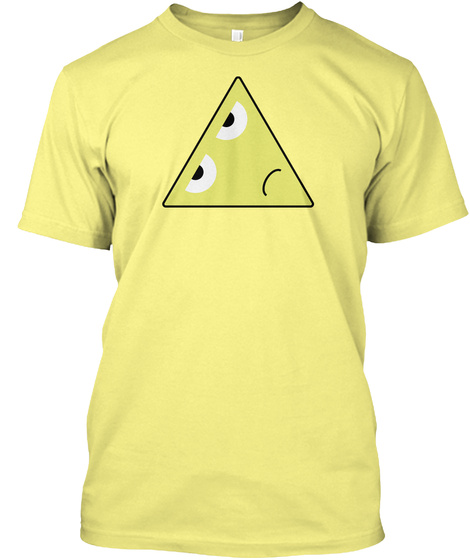 Sad Yellow Triangle Lemon Yellow  T-Shirt Front