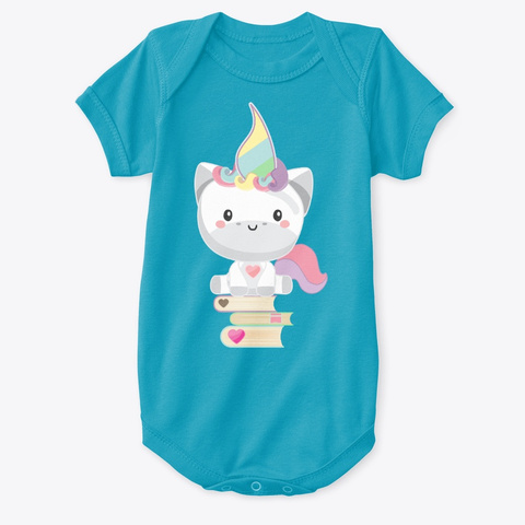 Even More Unicorns Turquoise T-Shirt Front