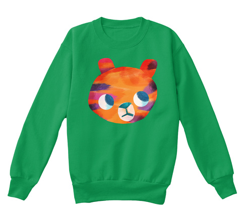 Tiniest Tiger Apparel For Kids! Kelly Green  T-Shirt Front