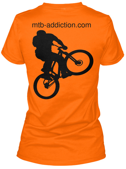 Mtb Addiction.Com Orange Women's T-Shirt Back