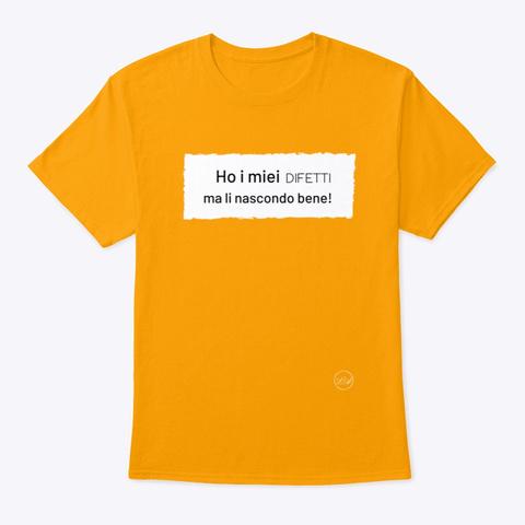 Difetti   Learn Amo Collection Gold T-Shirt Front