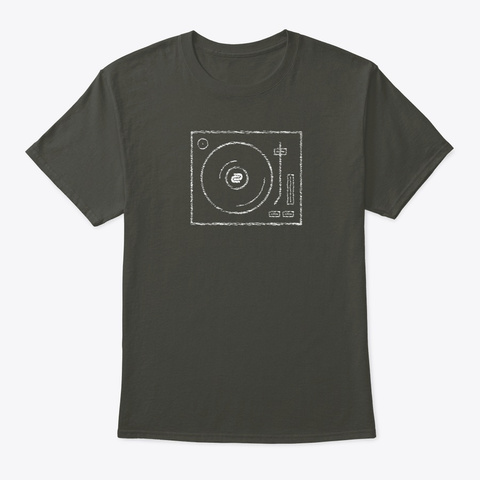 Dc Turntable Scribble Smoke Gray T-Shirt Front