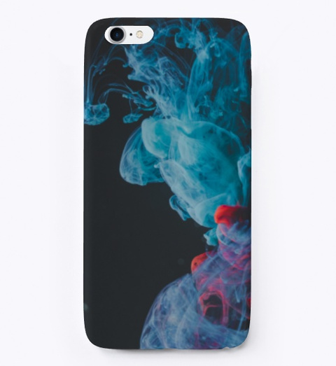 Blue & Red Smoke  I Phone Case Standard T-Shirt Front