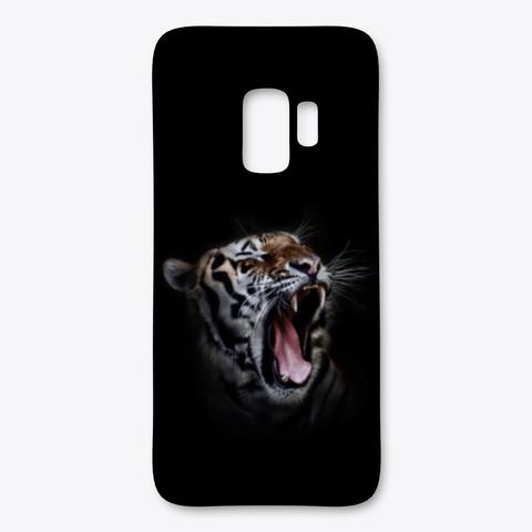 Tiger Yawn Black T-Shirt Front