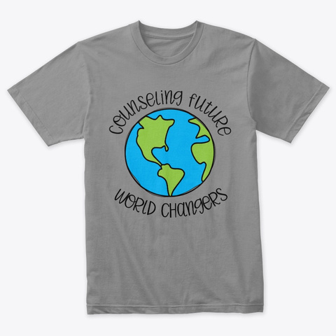 Counseling Future World Changers Premium Heather T-Shirt Front