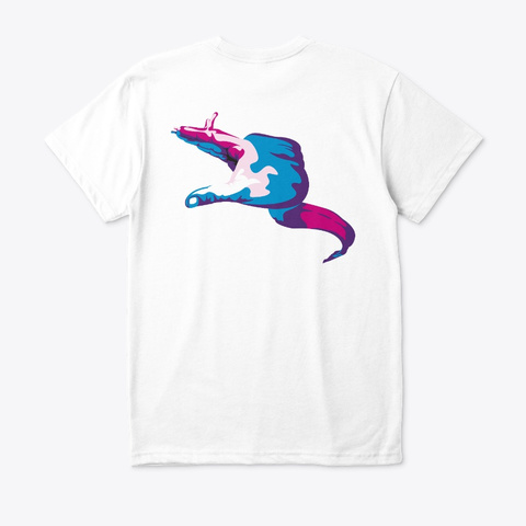 Moray Eel Hand Signal · Eco T Shirt White T-Shirt Back