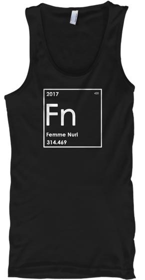 2017 Fn Femme Nuri 314.469 Black Tank Top Front
