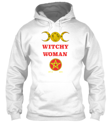 Witchy Woman   White Sweatshirt Front