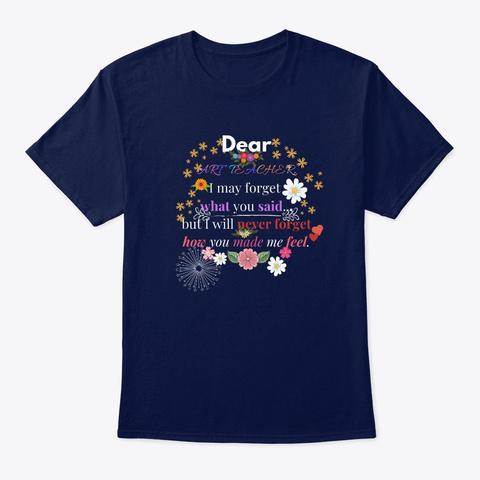 Art Teacher Gifts Navy T-Shirt Front