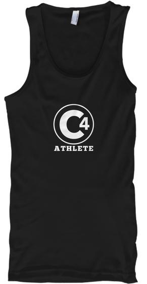 C4 Athlete Black T-Shirt Front