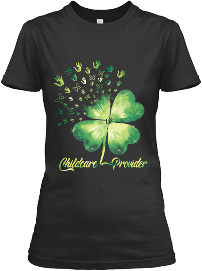 Childcare Provider Black T-Shirt Front