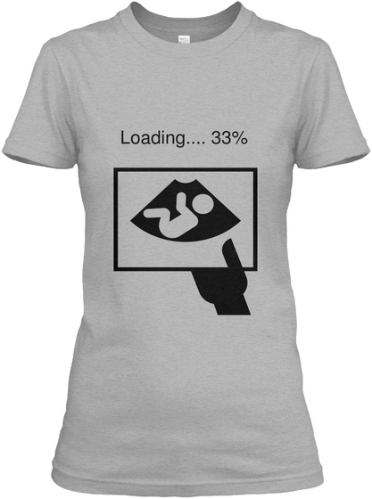 Loading.... 33% Sport Grey Women's T-Shirt Front