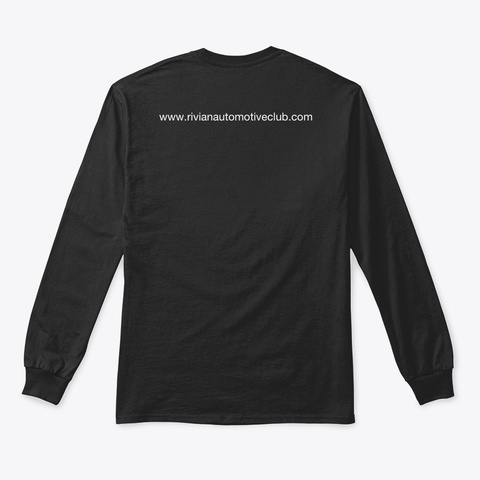 Rivian Automotive Club Fall Clothing Black T-Shirt Back