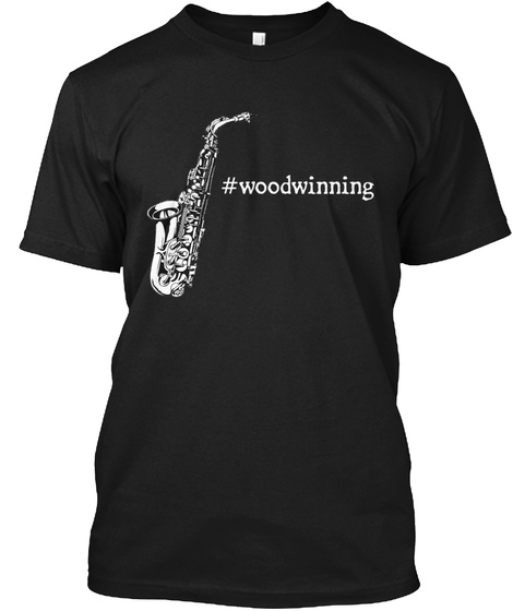 #Woodwinning Black T-Shirt Front