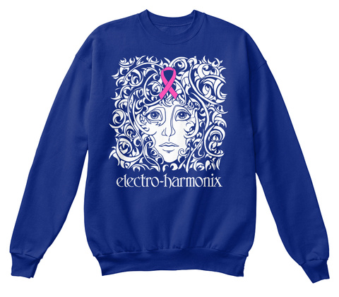 Electro Harmonix Deep Royal  Sweatshirt Front