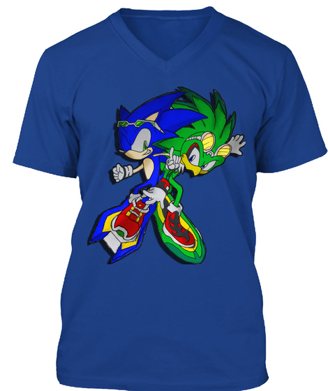 Sonic Riders Lets Play True Royal T-Shirt Front