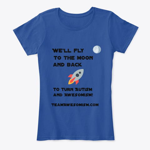 Awesomism Moon Deep Royal  T-Shirt Front