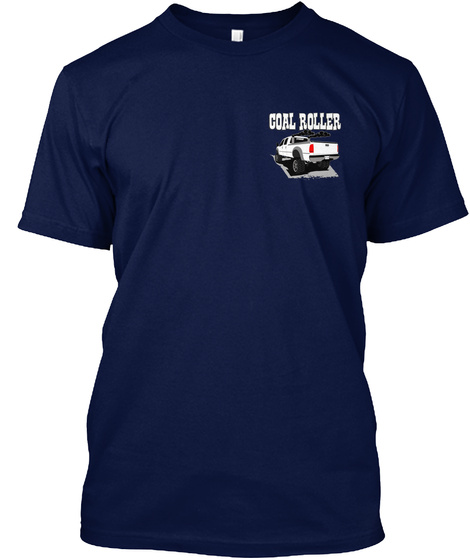 Diesel Engine Pick Up Coal Roller Dad Lc Navy T-Shirt Front