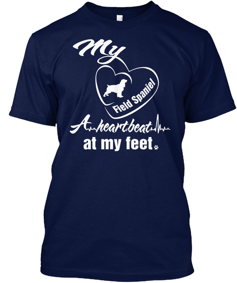 Field Spaniel Navy T-Shirt Front