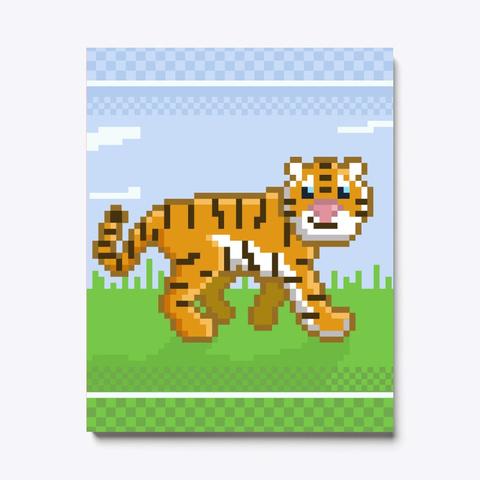 Pixel Tiger Pink T-Shirt Front