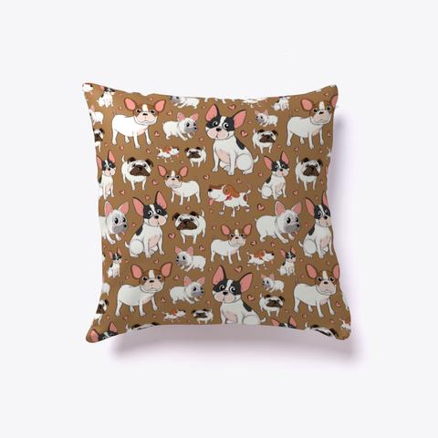 Dog Pillow | Dog Throw Pillow  White T-Shirt Front