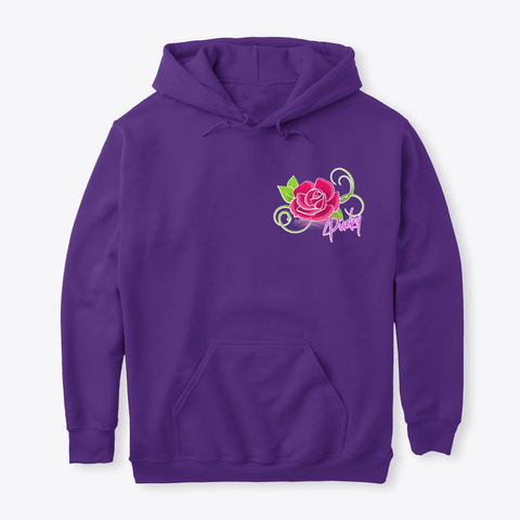 Pinky Rose Purple Sweatshirt Front