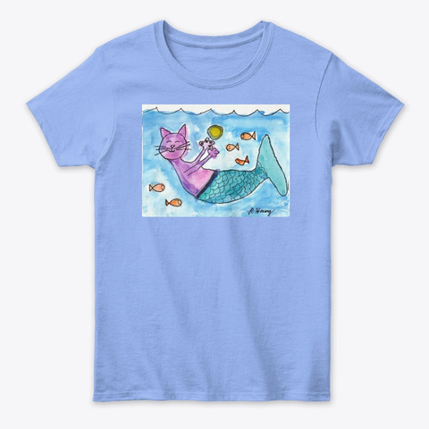 The  Purr Maid! Light Blue T-Shirt Front
