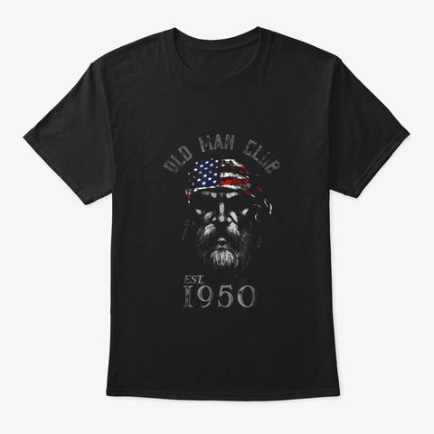 Mens Old Man Club Established 1950 T Black T-Shirt Front
