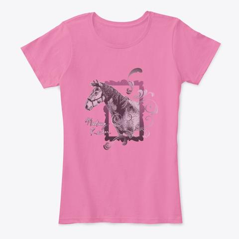 Mustang Raven True Pink T-Shirt Front