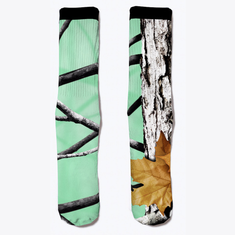 Camo Colored Socks, Seafoam Standard Kaos Front