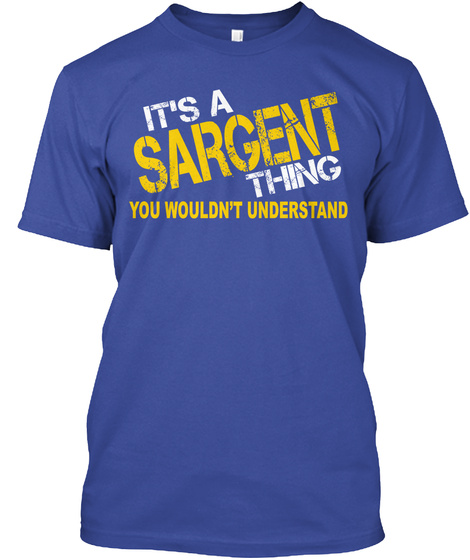 Sargent Thing [Limited Time Sale] Deep Royal T-Shirt Front
