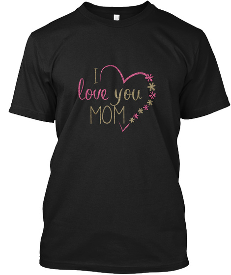 Awesome Mother's Day Gift For Moms Mum Black T-Shirt Front