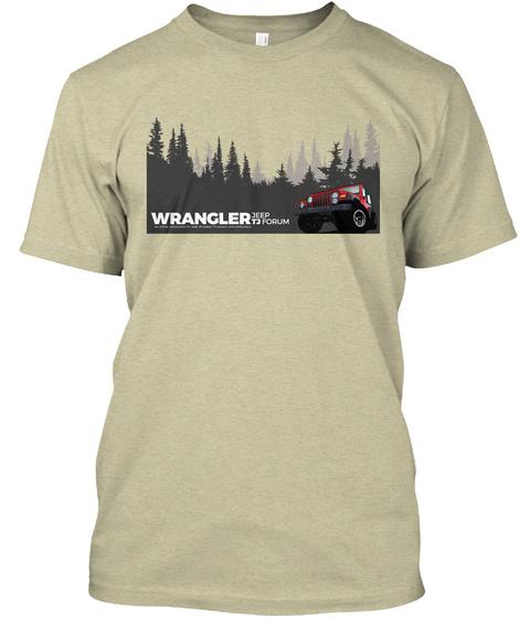 Wrangler Jeep Tj Forum Oatmeal T-Shirt Front