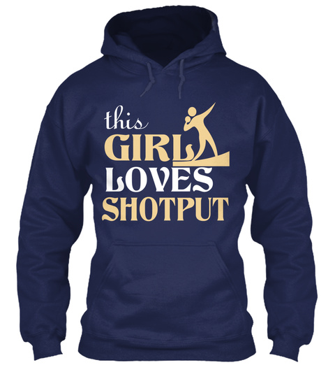 This Girl Loves Shotput Navy T-Shirt Front