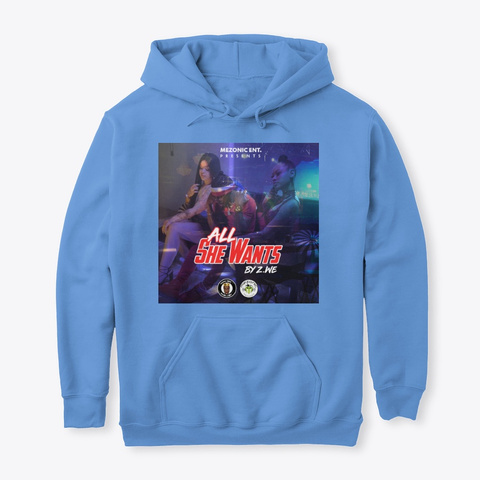 All She Wants By Z.We Carolina Blue T-Shirt Front