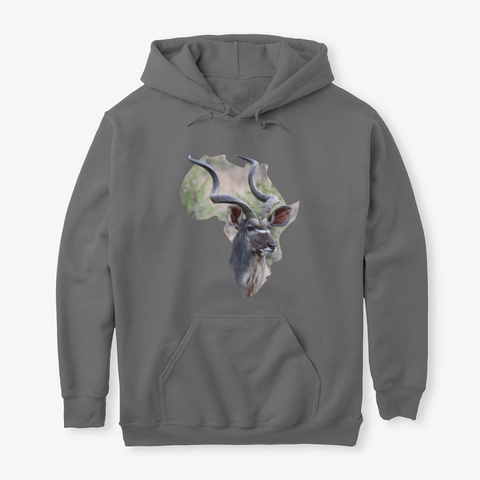 Africa With Kudu Fill Dark Heather T-Shirt Front