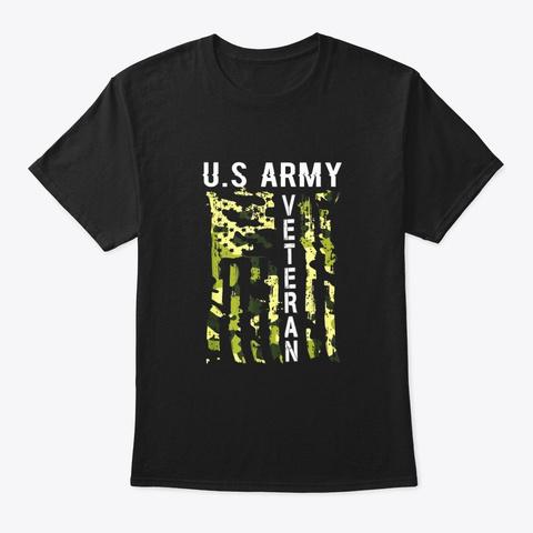 Veteran Shirt Great Usa Black T-Shirt Front
