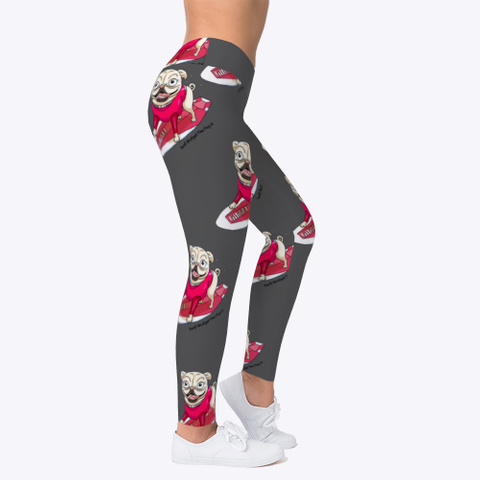 Surf Gidget The Pug Leggings Charcoal T-Shirt Right