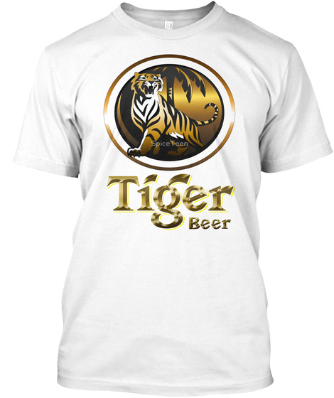 Tiger Beer White T-Shirt Front