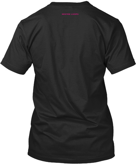 Nested Loops Black Camiseta Back